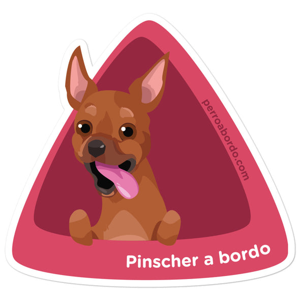 Pegatina Pinscher Marrón