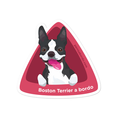 Pegatina Boston-Terrier