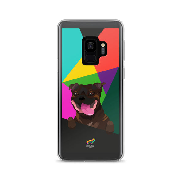 Staffy Atigrado (Funda para Samsung)