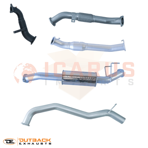 "Outback Exhaust Systems - *ARRIVING IN JUNE* 3.0L Ford Ranger / Mazda BT50 3"" Outback Exhaust System"