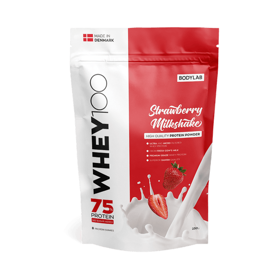 Bodylab Proteīni Strawberry Milkshake Bodylab Whey 100 (250 g)
