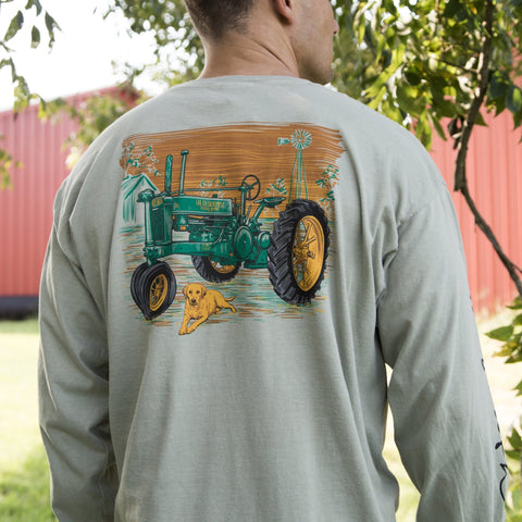 Tractor And Dog - Long Sleeve
