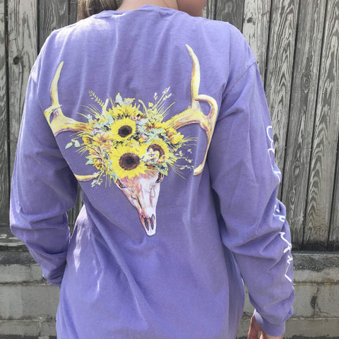 Antlers & Sunflowers - Long Sleeve