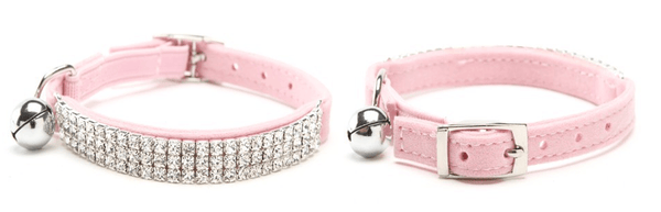 "Diamond Cat Collar ""Be Famous"" - Pink"