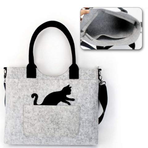 Eco-Friendly Cat Handbag - Available in 2 Models