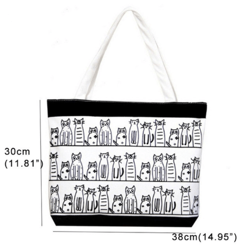 Cats Striped Handbag - Available in 4 Models
