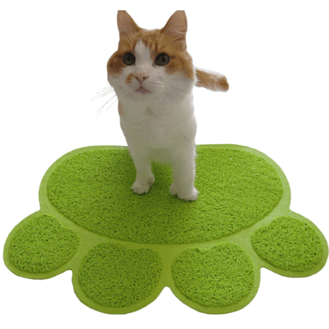 Cat Litter Box Mat - Cat Paw