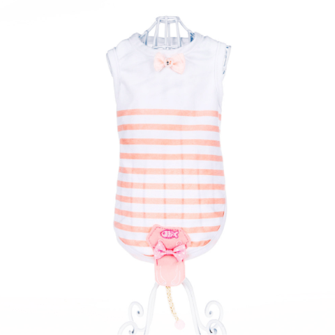 Fashion Striped Vest - Pink