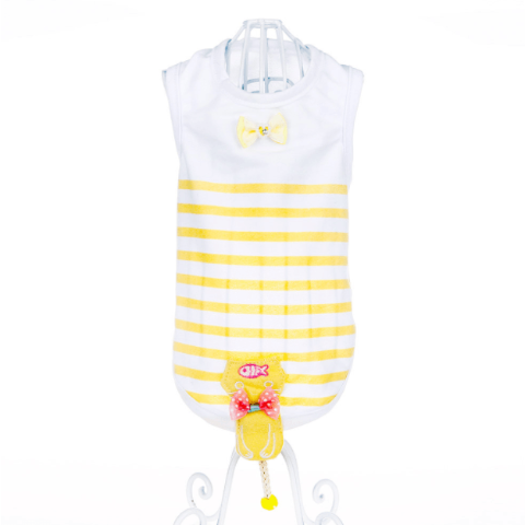 Fashion Striped Vest - Yellow