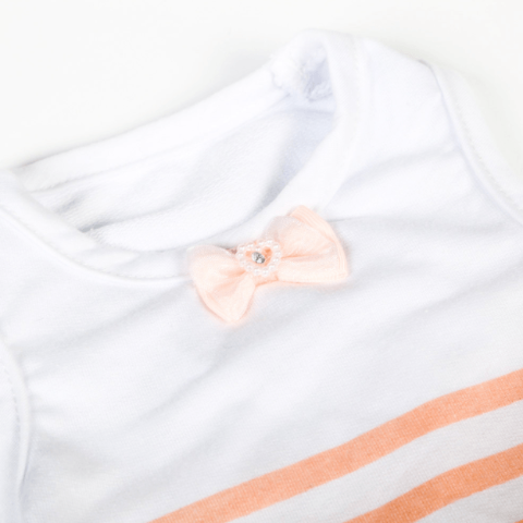 Fashion Striped Vest - Pink Bow tie