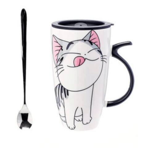 Cute Cat Ceramic Mug - Hungry