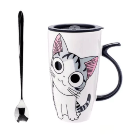 Cute Cat Ceramic Mug - Cutie