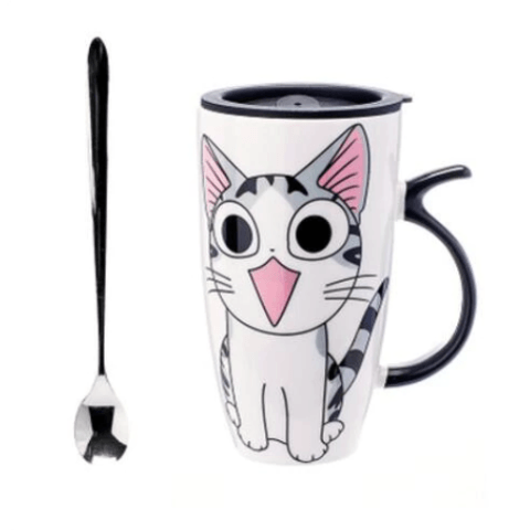 Cute Cat Ceramic Mug - Happy