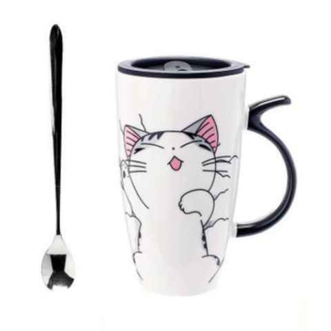 Cute Cat Ceramic Mug - Sleeping