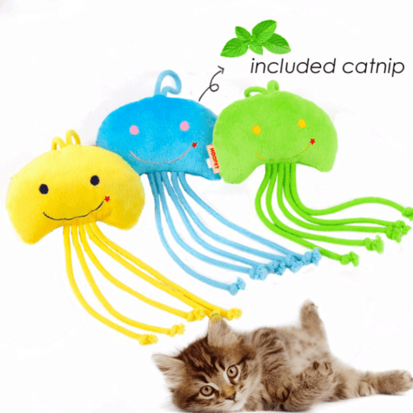 Jellyfish Cat toy With Organic Catnip