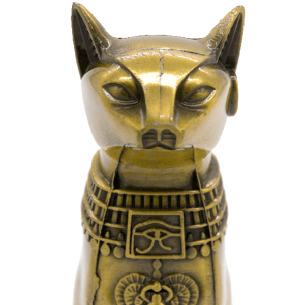Egyptian Cat God Statue - Front detail