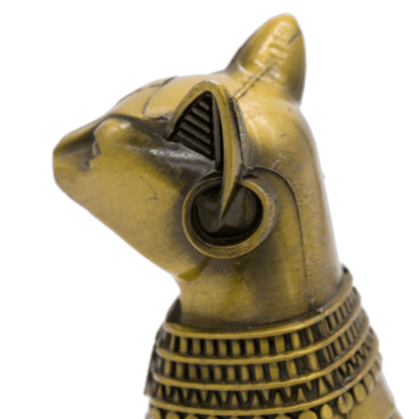 Egyptian Cat God Statue - Side detail