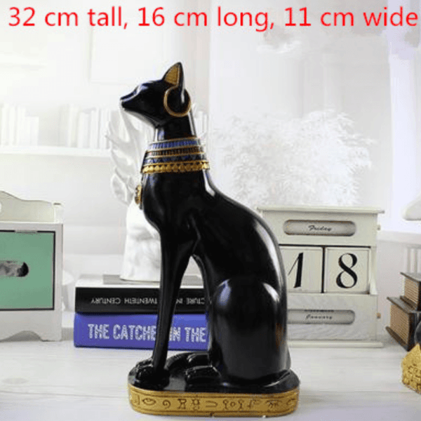 Family Egyptian Cat God Statue - Big