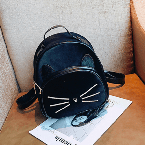 2018 Kawaii Cat Ear Backpack - Black