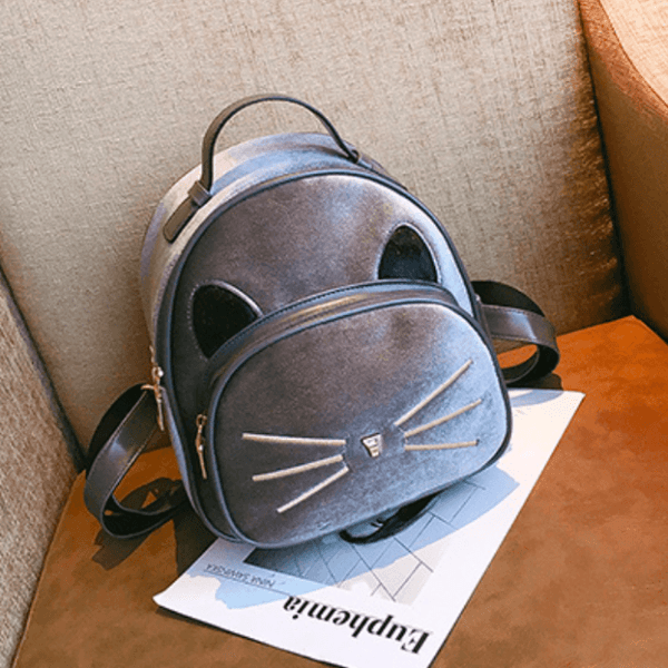2018 Kawaii Cat Ear Backpack - Gray