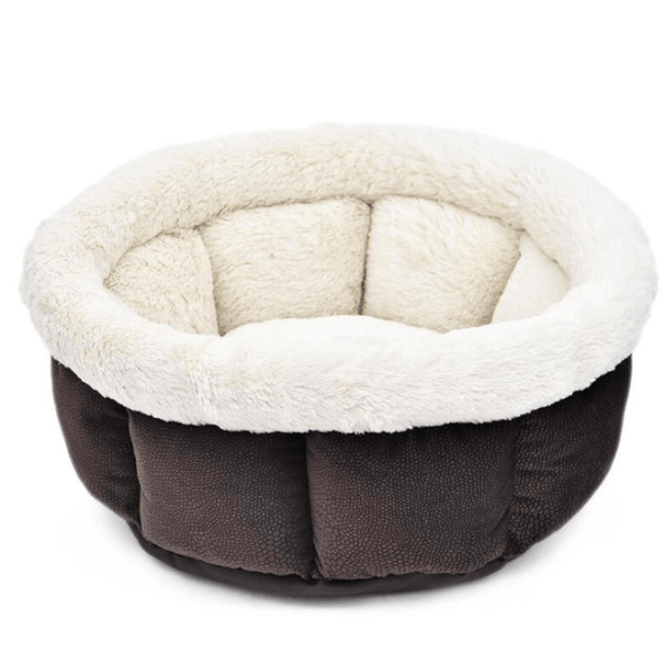 Super Soft Warm Cat Bed  - SaddleBrown