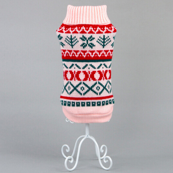 Snowflower Cat Jumper - Pink