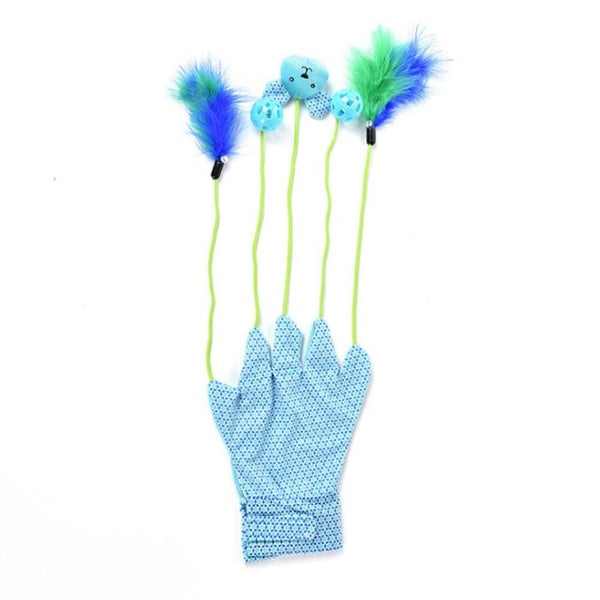 Interactive Cat toy Gloves | Blue
