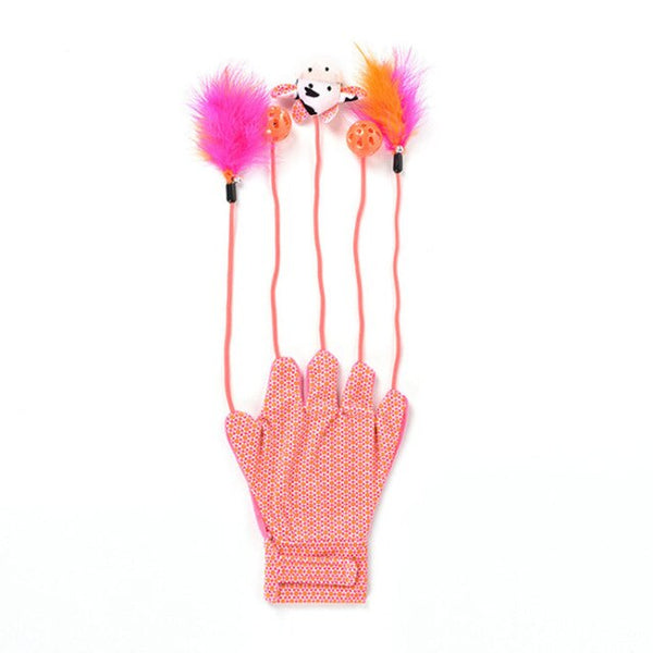 Interactive Cat toy Gloves | Pink