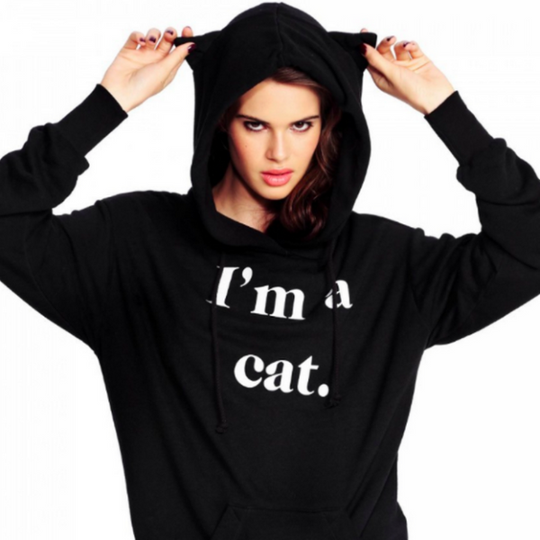 Kawaii Cat Ears Hoodie - I'm a cat