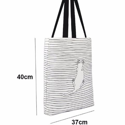 Cat Striped Handbag - Modele 2 Size