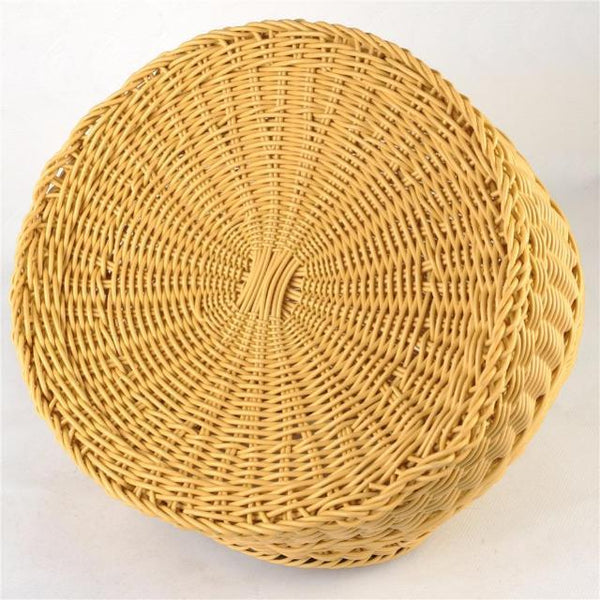 Cat Wicker Sleeping Basket - Below
