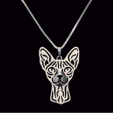Sphynx Prune Necklace - Silver
