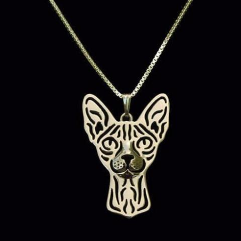 Sphynx Prune Necklace - Gold