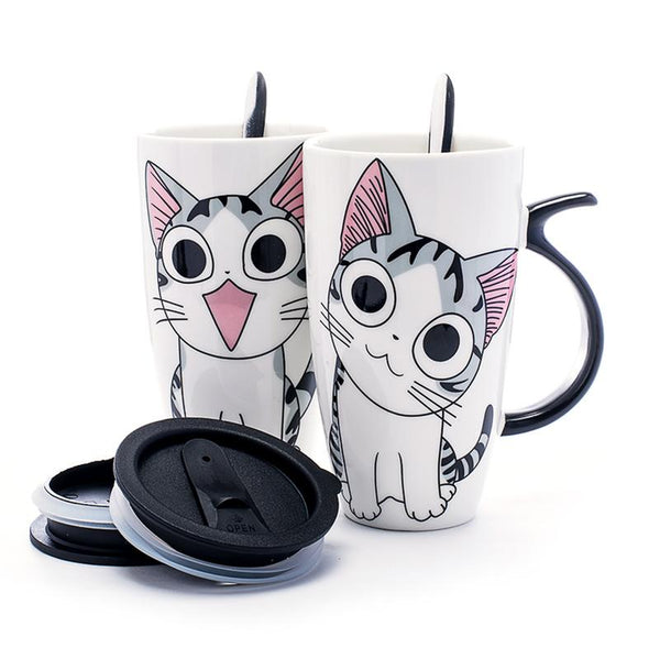 Cute Cat Ceramic Mugs