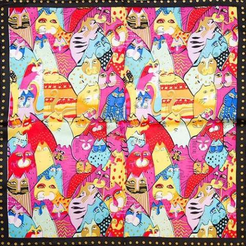The Indispensable - Scarves -Multi Colors Cats