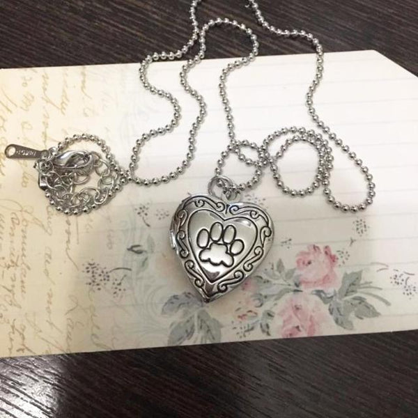 Locket Cat Paw Necklace - Available in 2 Colors