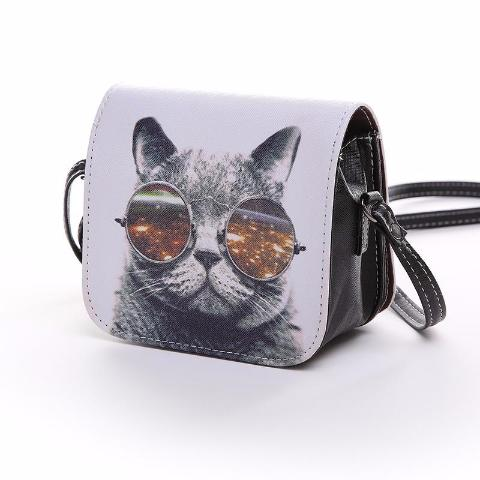 Fashion Glasses Cat Handbag