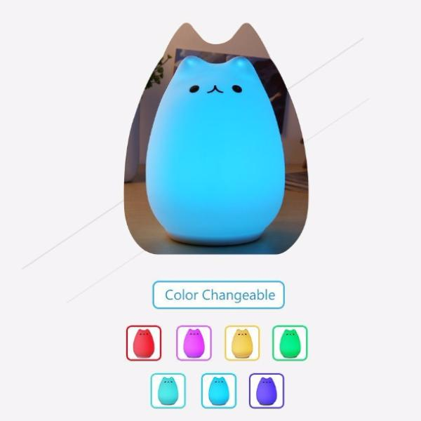 Cat Shaped Night Light - Colors