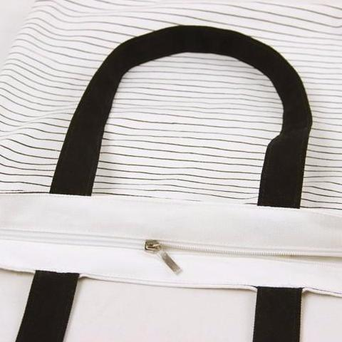 Cat Striped Handbag - Modele 2 Closure