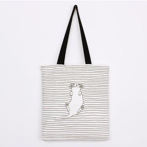 Cat Striped Handbag - Modele 2