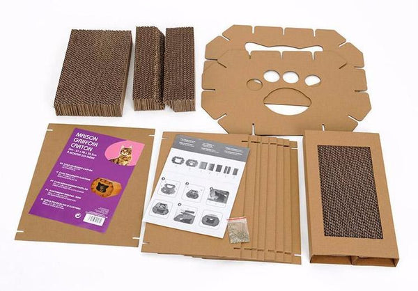 Cardboard Cat House - Eco-Friendly Home - Packaging Detail