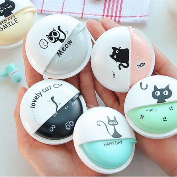 Cute Cat Macarons In-Ear Earphones - Available in 5 Colors