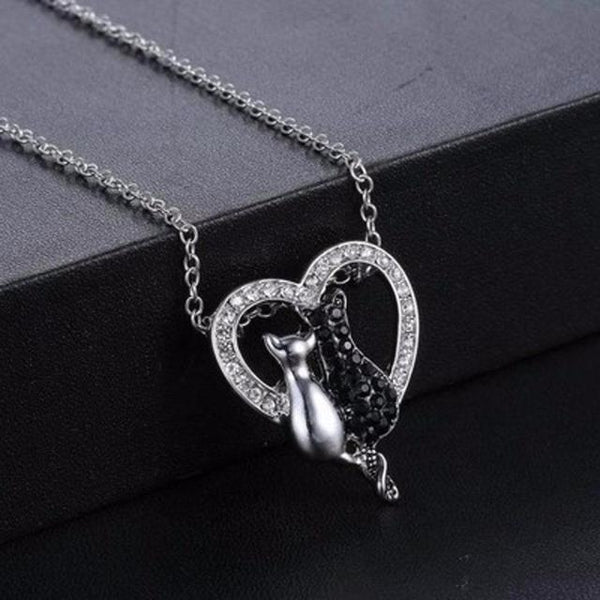 Lovely Crystal Black White Necklace