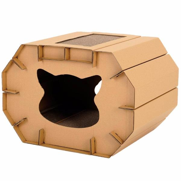 Cardboard Cat House - Eco-Friendly Home - 3/4 view