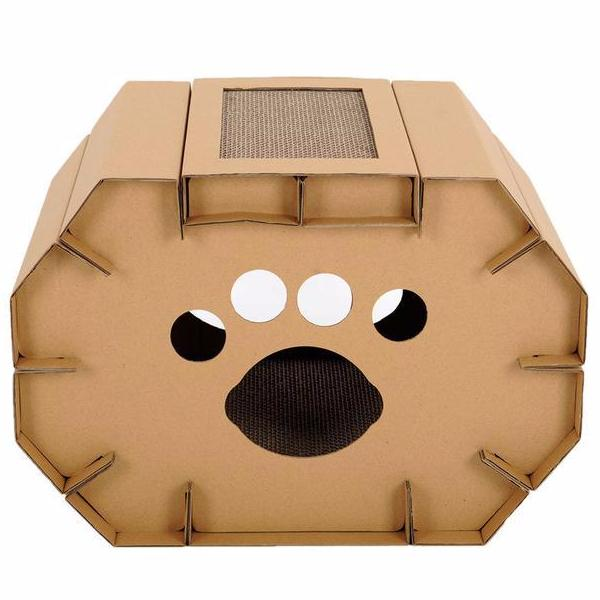 Cardboard Cat House - Eco-Friendly Home - Front