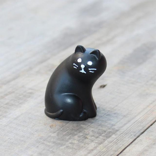Miniature Cat Figurine - Black Cat