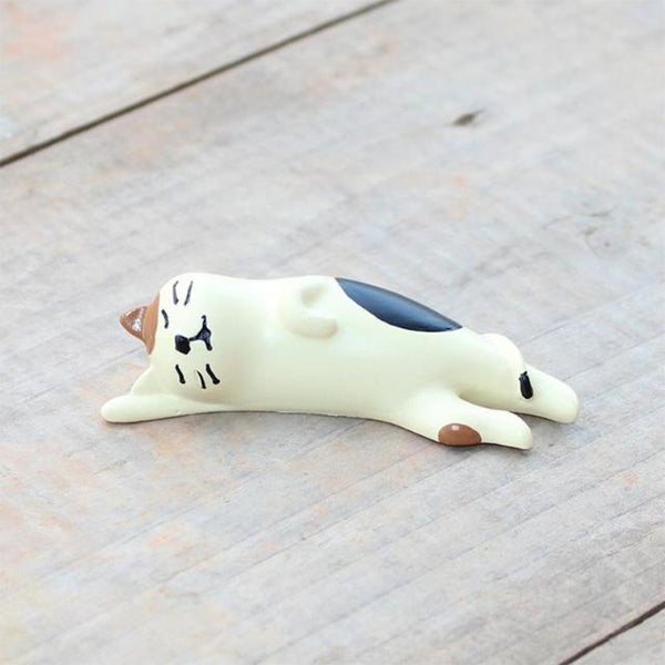Miniature Cat Figurine - Sleeping Cat