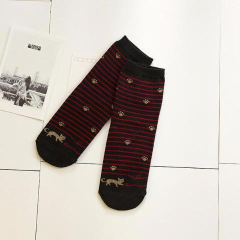 Black Striped Socks