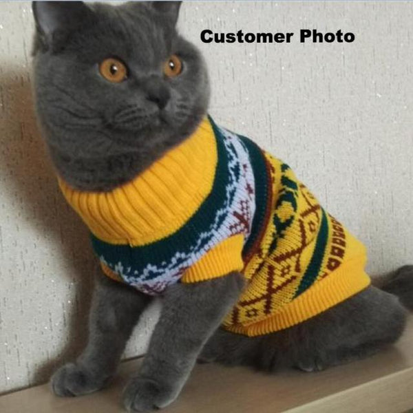 Snowflower Cat Jumper - Customer photo
