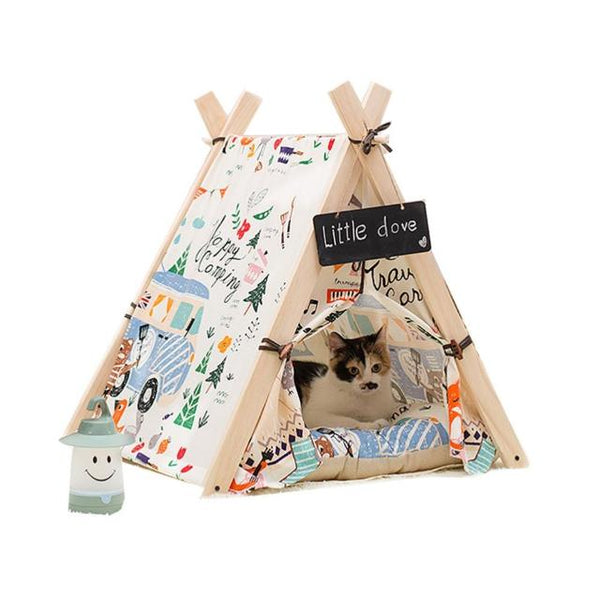 "Happy Camping Cat ""TeepeeLove"" Tent"